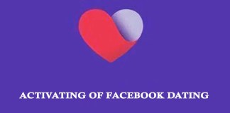 Activating of Facebook Dating