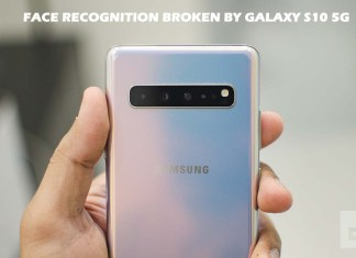 Face Recognition Broken by Galaxy S10 5G Update