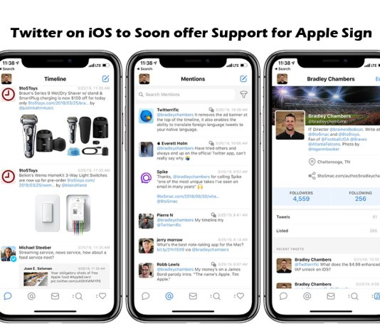 Twitter on iOS to Soon offer Support for Apple Sign in