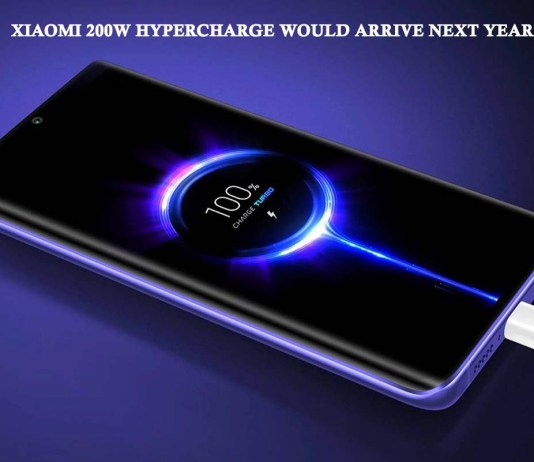 Xiaomi 200W HyperCharge Would Arrive Next Year