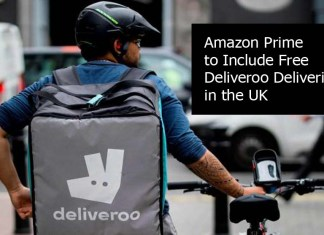 Amazon Prime to Include Free Deliveroo Deliveries in the UK