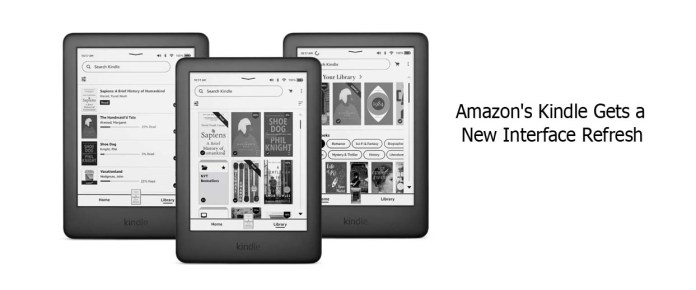 Amazon's Kindle Gets a New Interface Refresh