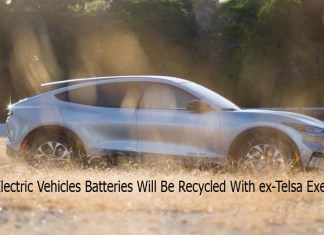Ford's Electric Vehicles Batteries Will Be Recycled With ex-Telsa Execs Startup