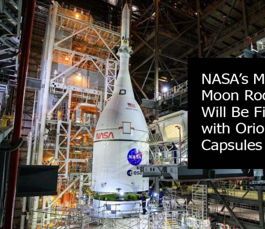 NASA's Mega Moon Rocket Will Be Fitted with Orion Capsules