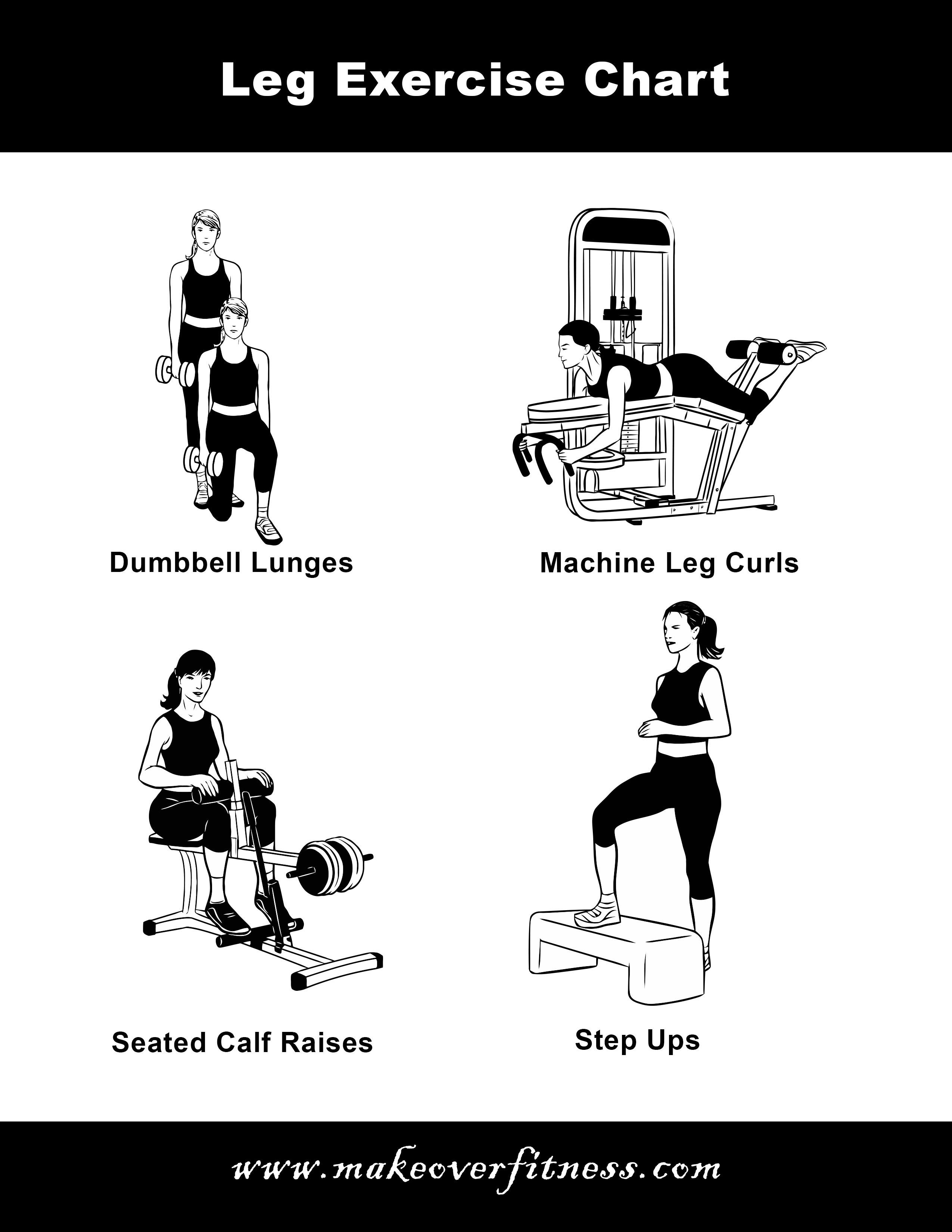 Leg Exercise Charts