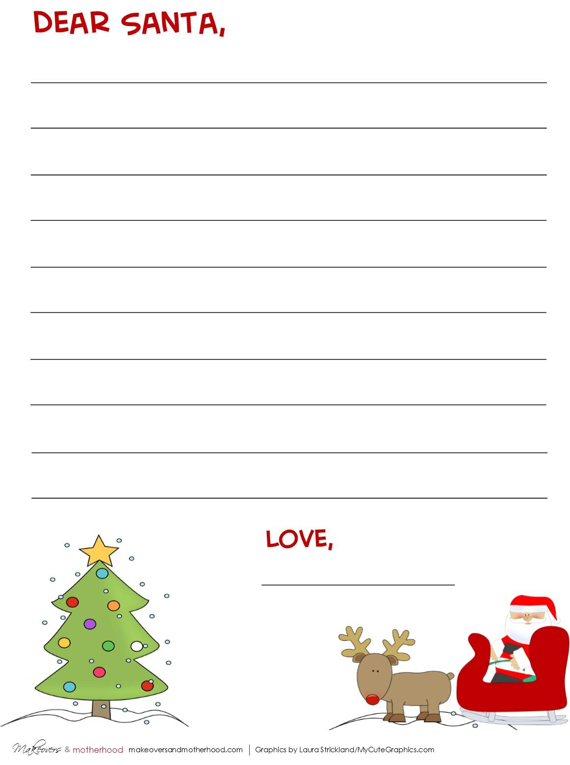 Dear Santa Stationary Printables