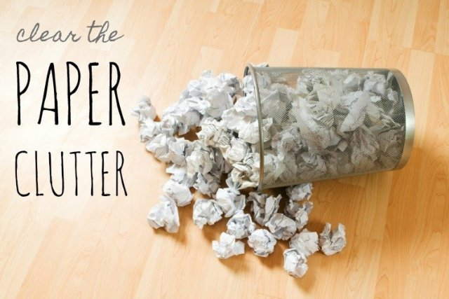 Clear the Paper Clutter by Makeovers and Motherhood