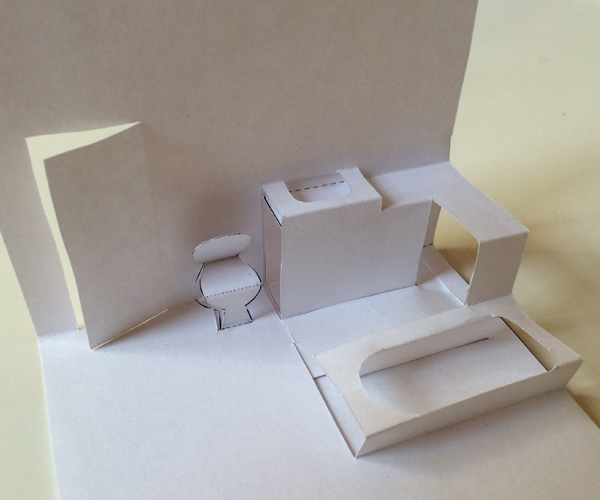 Blank Pop Up House You Can Color And Decorate Yourself