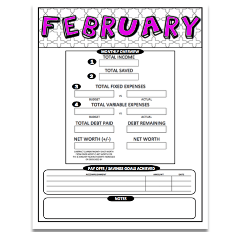 picture relating to Bi Weekly Paycheck Budget Printable identified as February 2019 Printable Coloring Spending plan Sheets (Bi-Weekly or Weekly Paychecks) Down load