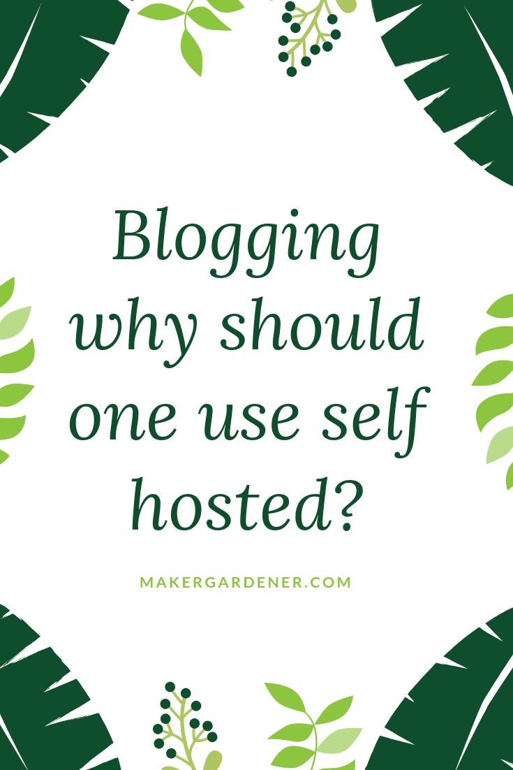 blogging self hosted