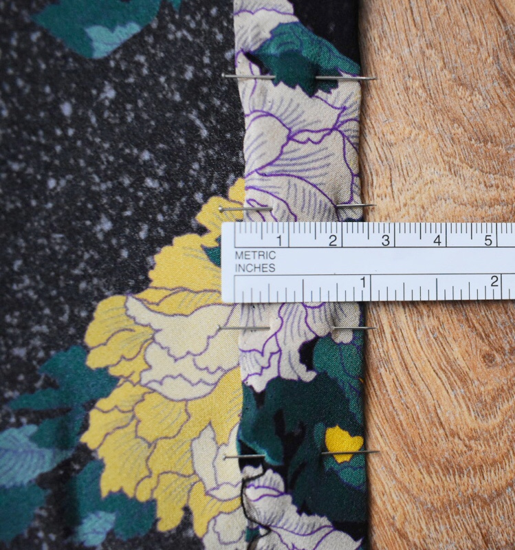 how to measure out invisible stitch