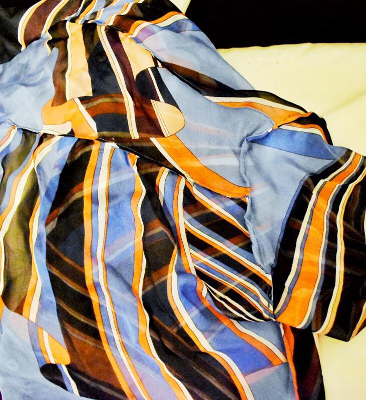 french seam inside chiffon blouse