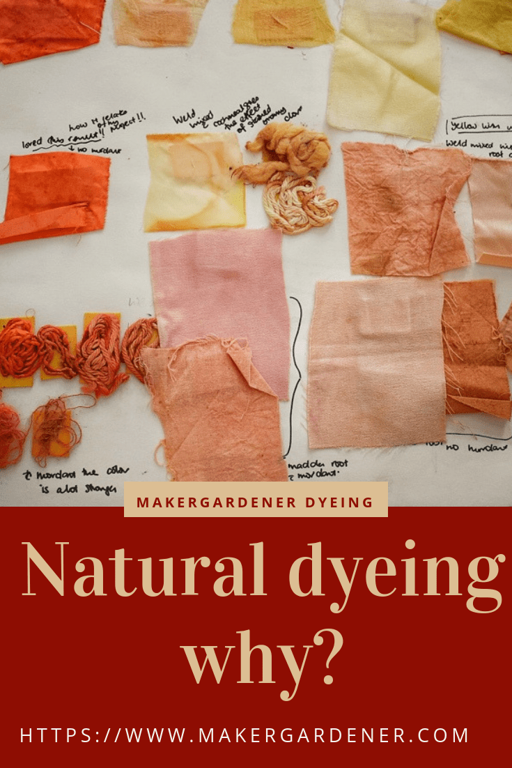 why do natural dyeing