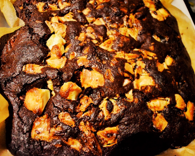 brownie out of oven