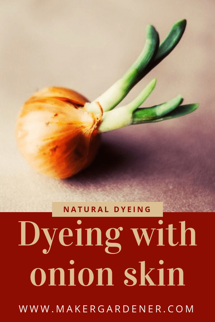 dyeing with onion skin