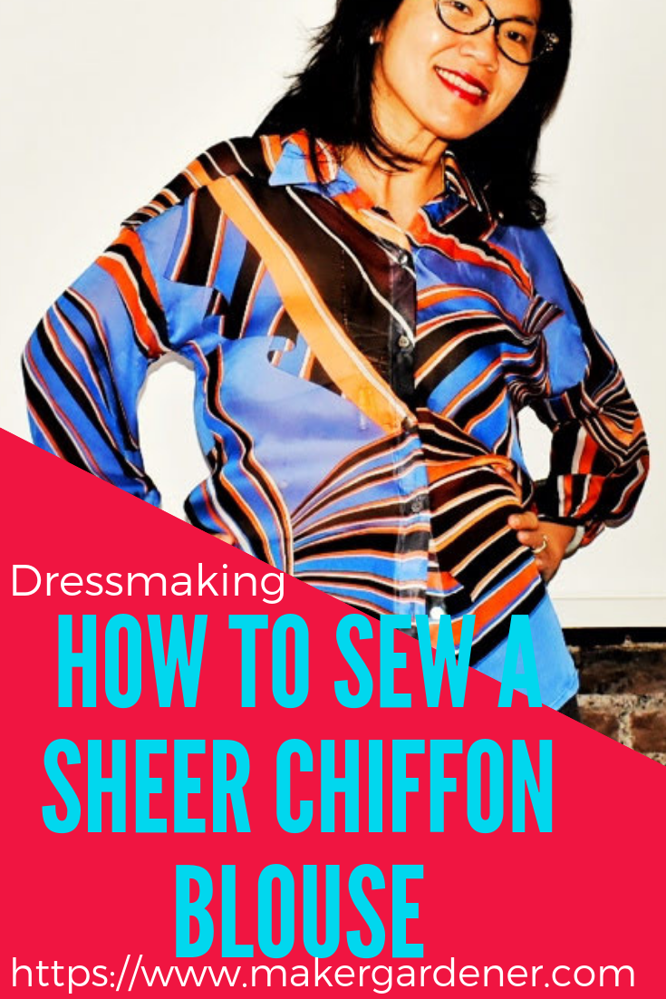 how to sew a sheer chiffon