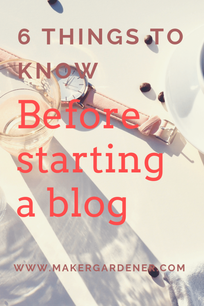 6 things before starting a blog
