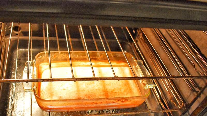 cassava cake in oven