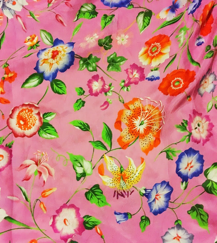 Silk Gucci past season  fabric bought on ebay