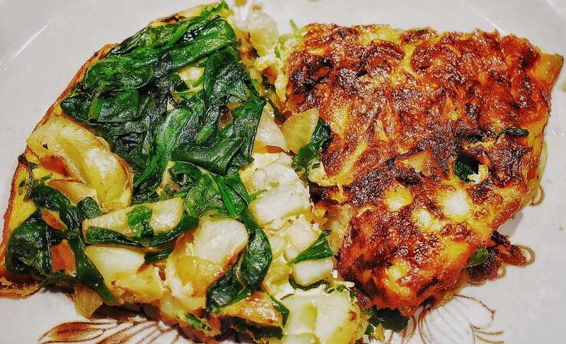 classic spinach omelette