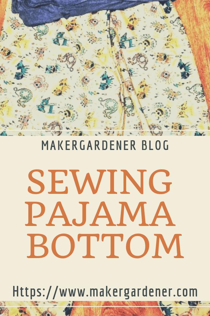 Sewing pajama bottom