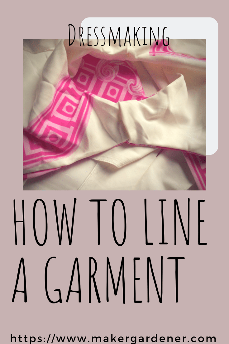 how to line a garment