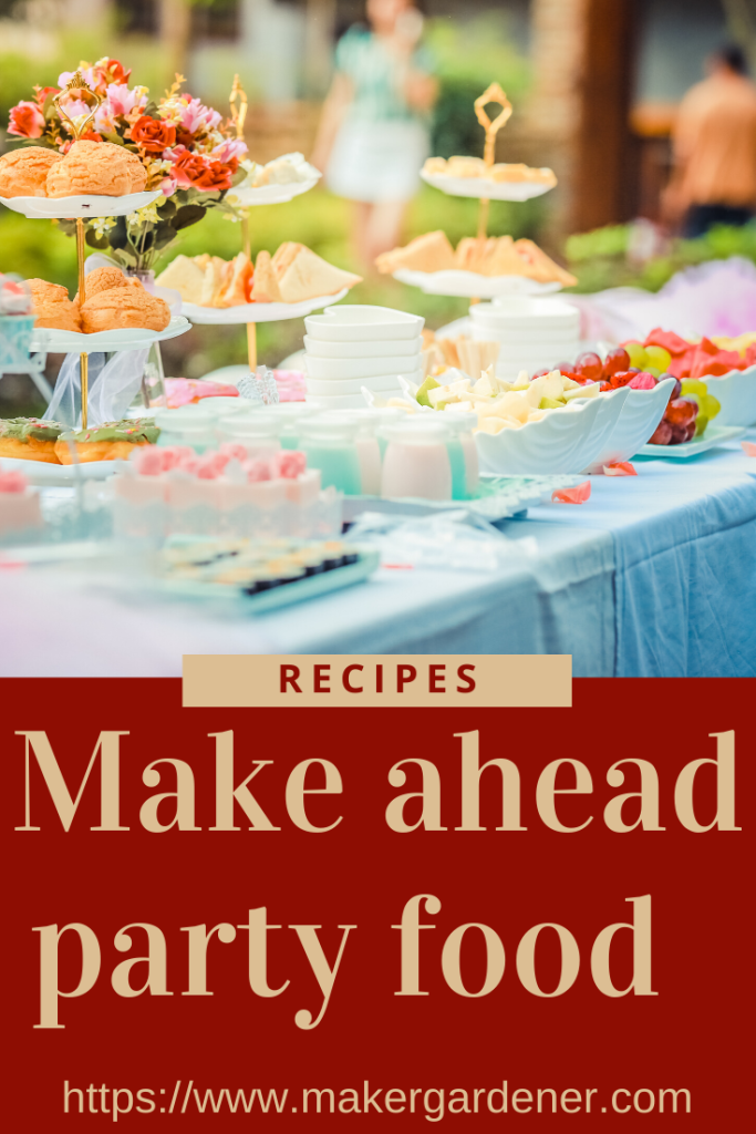 make ahead party food