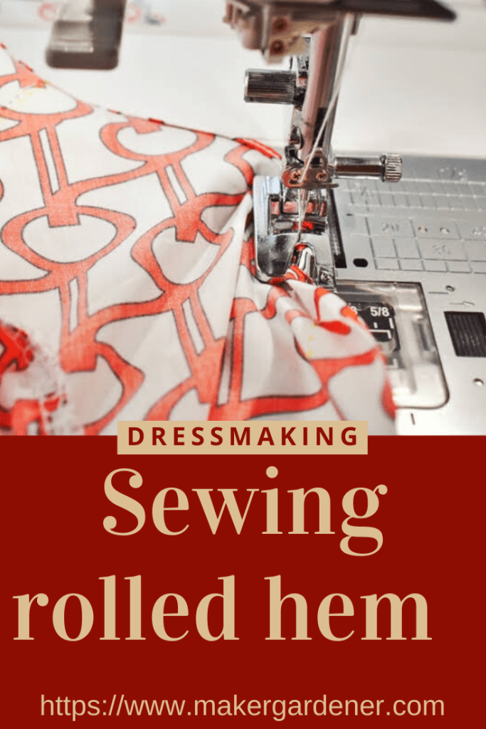 sewing rolled hem
