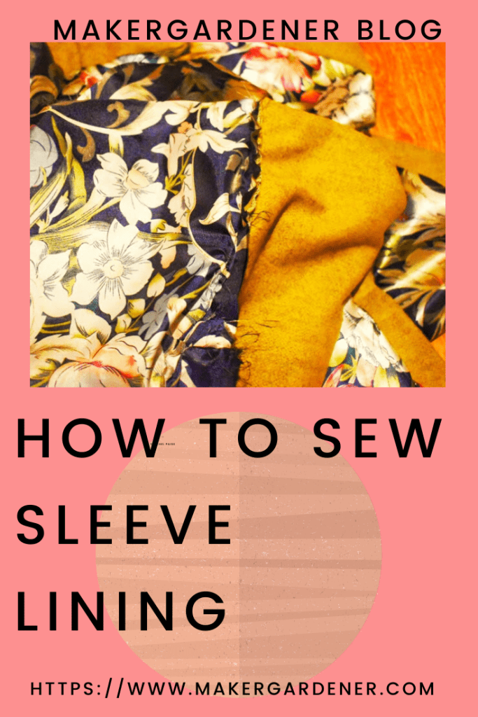 how to sew sleeve lining