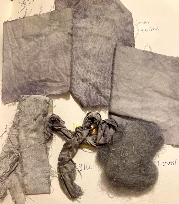 fabric dyeing with logwood