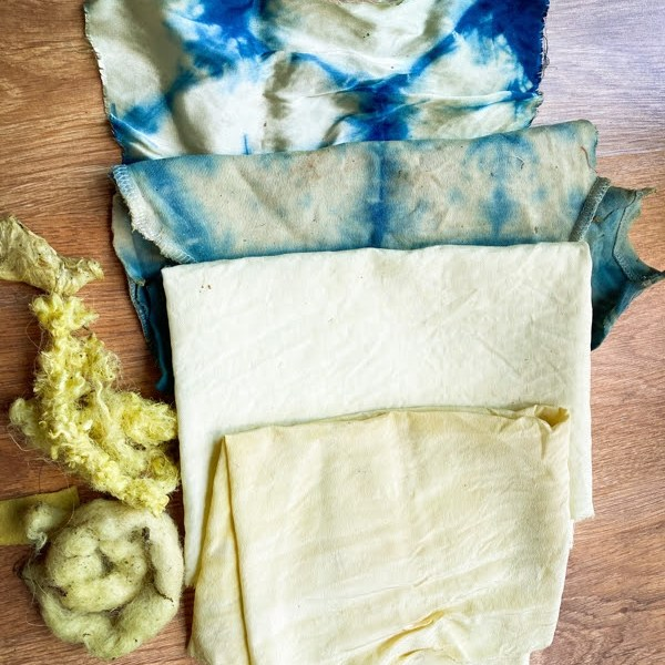 Fabric dyeing with weld