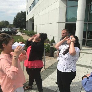 Eclipse viewing party at work Pretty cool eclipse2017