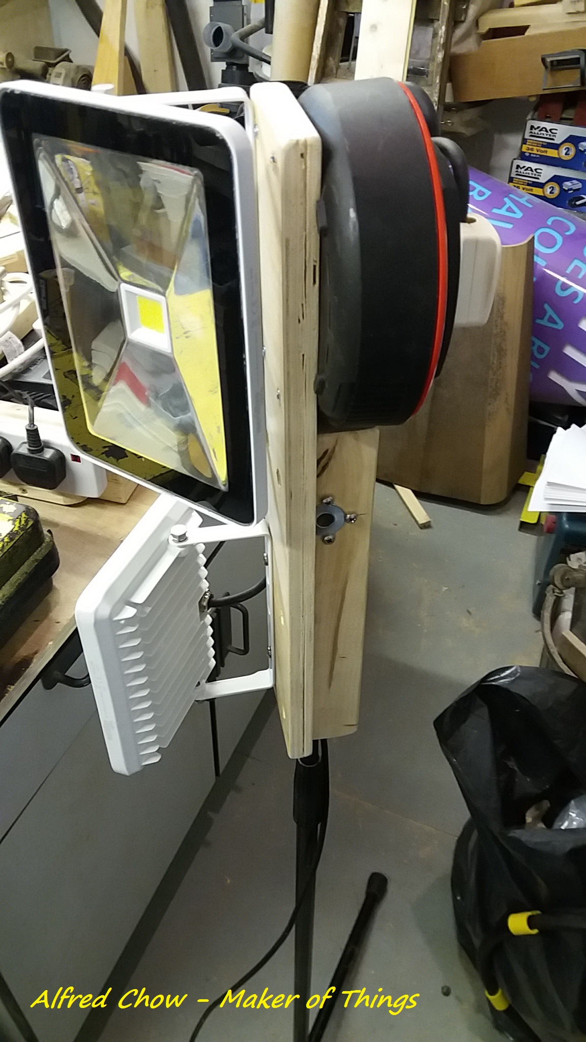 Making a work light…