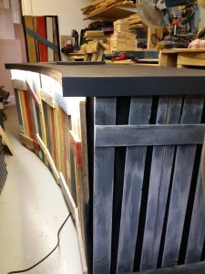 the desk from the right end in the workshop