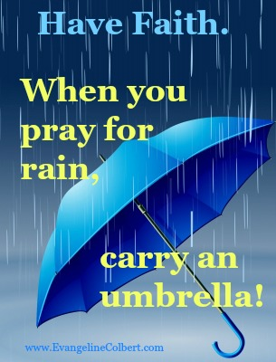 Faith and Expectancy - umbrella and rain