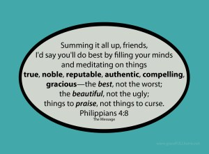 Thought Stopping - Philippians 4:8