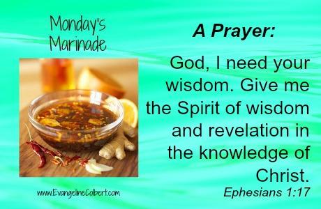 Monday's Marinade Wisdom