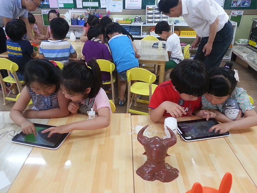 Korean Kindergarten Kids Learn 3d Printing With Makers