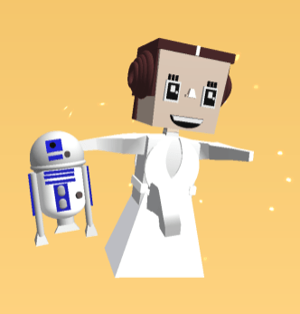 My Makers Empire Avatar - Princess Leia edition