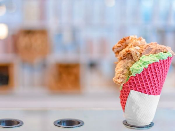 colourful ice cream cone