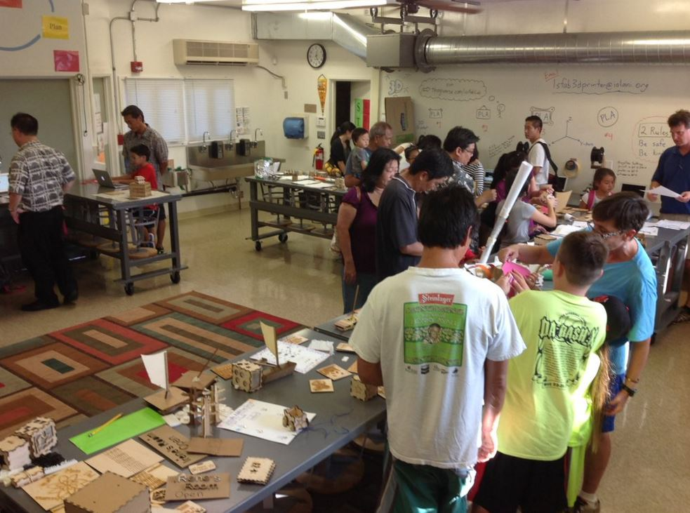 K-6 School Makerspace in Honolulu, Hawaii sent in by @iolaniLSFabLab