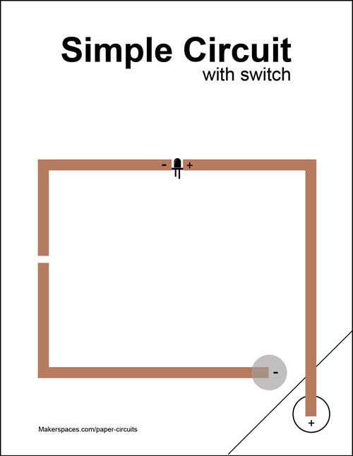simple circuit w switch paper circuits