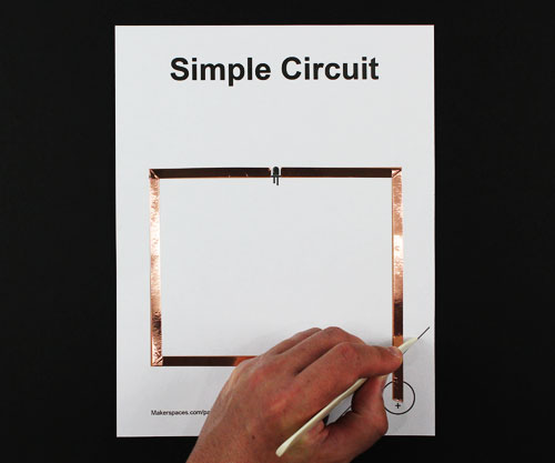 paper circuit steps makerspace project