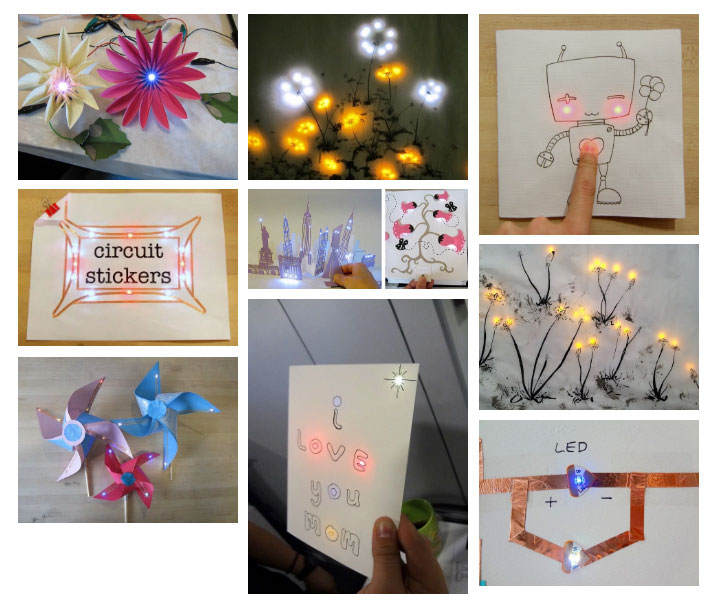 paper circuits for makerspaces makerspaces comCircuit Stickers Starter Kit Maker Shed #6