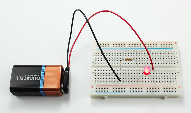 introduction to basic electronics, electronic components and projectsled circuit breadboard