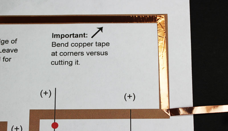 copper tape christmas paper circuits projects