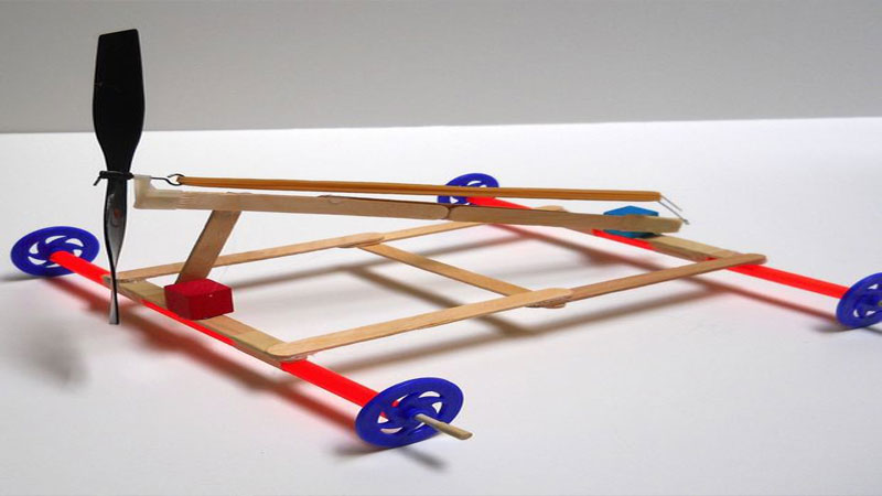 stem makerspace projects rubber band car