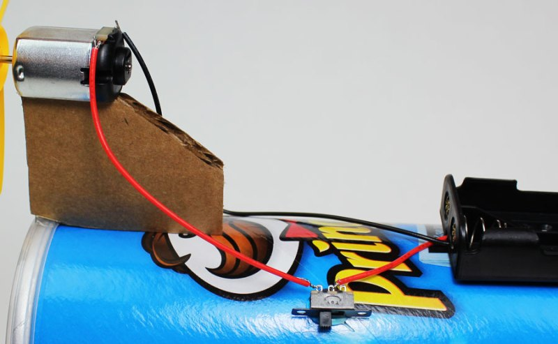 electric battery powered propeller car materials switch
