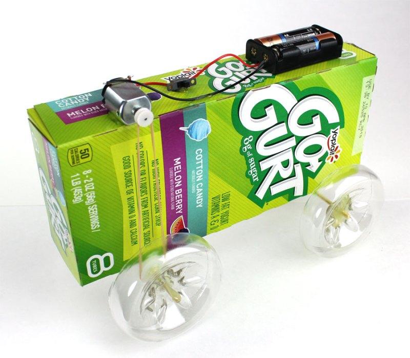 DIY mini electric battery car