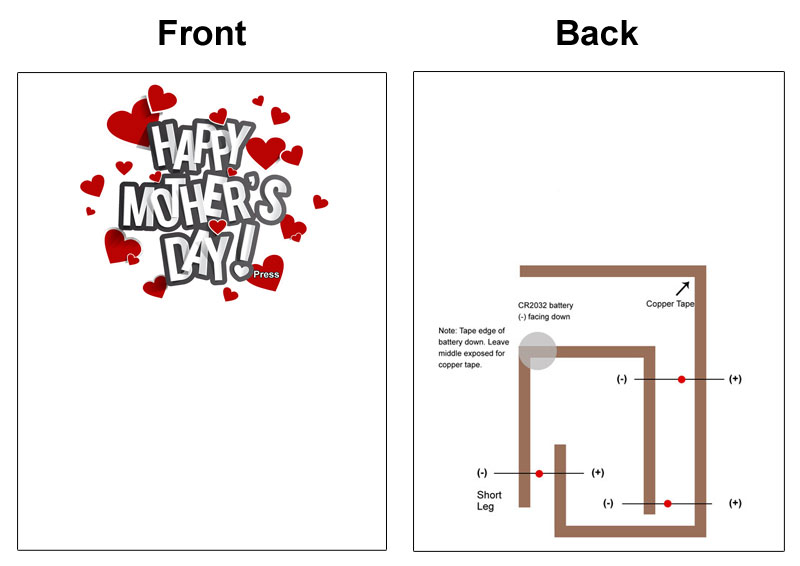 Make A Mothers Day Paper Circuit Card Steam Or Makerspace Project